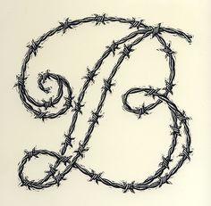 The letter B - hand lettering illustration by Dave Stevenson