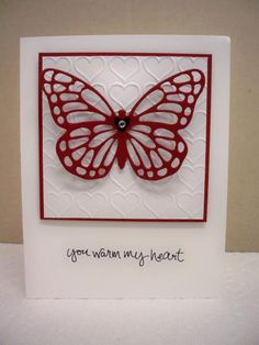 Butterflies Thinlits by D. Daisy - Cards and Paper Crafts at Splitcoaststampers