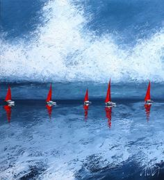 The Red Sails, 2012 by Dima Dmitriev on Curiator, the world's biggest collaborative art collection. Rain Painting, Painting Of Girl, Traditional Paintings, Contemporary Paintings, Original Art, Original Paintings, Art Of Love, Digital Museum, Saatchi Online