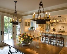 french country kitchen. elegant yet rustic. love this!