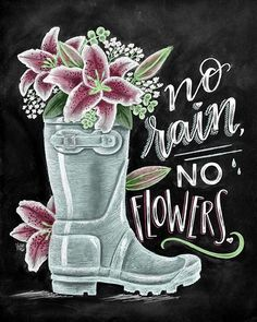 "Here it is! I love the underlying message of this quote so much, and the fact that it fits perfectly for spring! In the same way that flowers cannot grow without rain, it's often when we are going through our greatest ""storms"" in life that we end up growing the most as individuals. While the ""rain"" in our lives can be unpleasant or uncomfortable for us to endure, we can trust God and use those moments as opportunities to learn, grow, and ultimately blossom as we go through life's journey! Ho"