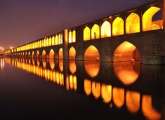 """Si-o-se Pol (""""33 Bridges"""" or """"the Bridge of 33 Arches""""), also called the """"Allah-Verdi Khan Bridge"""", is one of the eleven bridges of Isfahan, Iran. It is highly ranked as being one of the most famous examples of Safavid bridge design."""