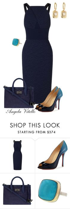 """Untitled #738"" by angela-vitello on Polyvore featuring Roland Mouret, Christian Louboutin, Diane Von Furstenberg, Jamie Joseph and Shay"