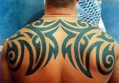 Tribal Shoulder Back Tattoo