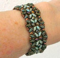 Linda's Crafty Inspirations: Bracelet of the Day: India Bracelet - Green Topaz Beaded Braclets, Beaded Bracelet Patterns, Seed Bead Bracelets, Seed Bead Jewelry, Jewelry Patterns, Beaded Jewelry, Seed Beads, Jewellery, Beading Patterns
