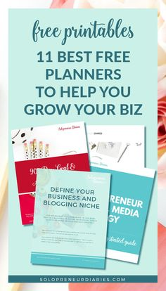 Are you looking for business planning printables to help you grow your small business in Here are 11 free printable planners that will help you create your plans and crush your goals! Free Planner, Printable Planner, Free Printables, Business Planner, Business Tips, Online Business, Business Marketing, Marketing Ideas, Content Marketing
