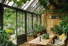 of a Room: Inside a Dreamy Conservatory Anatomy of a room: inside this dreamy cottage garden conservatory.Anatomy of a room: inside this dreamy cottage garden conservatory. Outdoor Rooms, Outdoor Gardens, Outdoor Living, Indoor Outdoor, Plants Indoor, Conservatory Garden, Conservatory Interiors, Conservatory Design, Conservatory Furniture