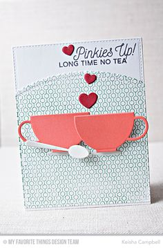 Cup of Tea Stamp Set, Lined Up Dots Background, Tea Party Die-namics, Stitched Scallop Basic Edges Die-namics - Keisha Campbell  #mftstamps