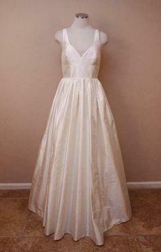 7bda3684632f2 JCrew $1150 Karlie Silk Dupioni Ball Gown 2 Ivory Wedding Dress Long Bride  dress #affilink
