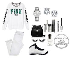 """""""Untitled #144"""" by alexia2018 ❤ liked on Polyvore featuring Victoria's Secret, NIKE, Kate Spade, Tommy Hilfiger, Bobbi Brown Cosmetics, Bare Escentuals and Deborah Lippmann"""
