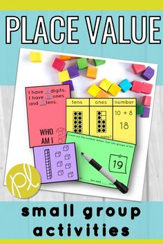 Need extra place value resources to support your students? These hands-on tasks can be used in your Guided Math small groups or math centers. This is a huge bundle with ten different game and tasks, plus posters and printables. Place Value Centers, Place Value Activities, Small Group Activities, Math Groups, Math Activities, Kindergarten Crafts, Classroom Crafts, Classroom Ideas, Co Teaching
