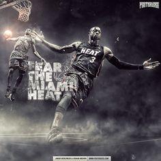 Fear Miami Heat Wallpaper | Posterizes.com - NBA Wallpaper Artwork