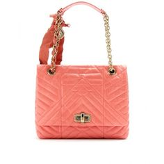 Lanvin Medium Happy Quilted Leather Shoulder Bag ($2,390) ❤ liked on Polyvore