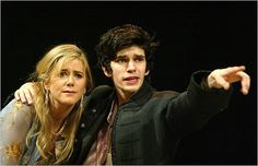 Ben Whishaw lead role in Shakespeare's  Hamlet, Old Vic theatre, 2004 - directed by Trevor Nunn in a scene here, with Imogen Stubbs as Gertrude.