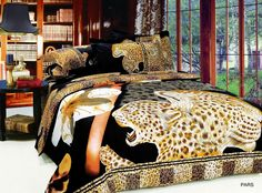 Pars by Arya Animal / Leopard Print Twin Duvet Set Only $125 - Visit us to see our Collection of Animal Print Bedding for Kids, Teens, Adults and Dorm Rooms @ www.designedtoinspirebedding.com