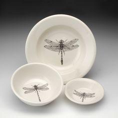 Laura Zindel Design - Cereal Bowl: Damselfly White, $31.00 (http://www.laurazindel.com/cereal-bowl-damselfly-white/)