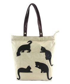 Love this black cat silhouette tote bag on zulily zulilyfinds catsilhouetteThis Black Cat Silhouette Tote Bag is perfect! - Tap the link now to see all of our cool cat collections!Sweet and whimsical, this charming bag adds purr-fectly playful appeal Popular Handbags, Cute Handbags, Cheap Handbags, Purses And Handbags, Luxury Handbags, Spring Handbags, Wholesale Handbags, Large Handbags, Hobo Handbags