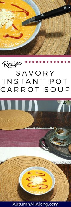 This extremely easy and savory instant pot carrot soup is going to be one you rotate regularly with your transition into fall! Chili Recipe From Scratch, Best Chili Recipe, Soup Recipes, Cooking Recipes, What's Cooking, Chili Recipes, Best Instant Pot Recipe, Carrot Soup, Cheap Dinners