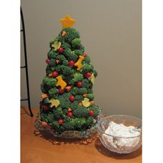 Broccoli Christmas #Tree Appetizer #Christmas #Appetizers