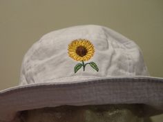 f7a856f3b44583 SUNFLOWER XL Bucket Hat - Embroidered Women Men Flower Garden Gift Cap - 10  Colors Mom Dad Beach Hats Available - Price Apparel Embroidery