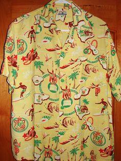 Kihi Kihi - 40s Hawaiiana Rayon Vintage Aloha Shirt - TheHanaShirtCo