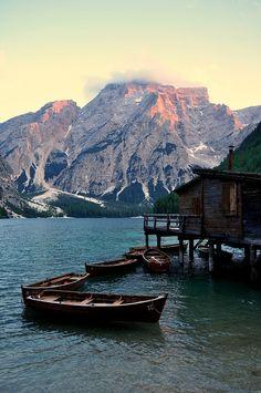 Lago di Braies, Province of South Tyrol, Trentino Alto Adige region  Italy