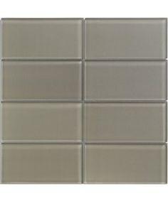 Lush Glass Subway Tile in River Rock | Modwalls Designer Lush 3x6 Tile