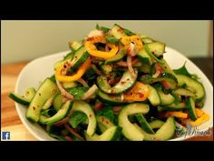 SPICY CUCUMBER SALAD !!! - YouTube