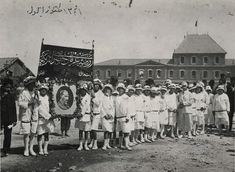 Liberation celebrations of 9 September 1341 (1924) in front of the Basmane train station, Izmir.