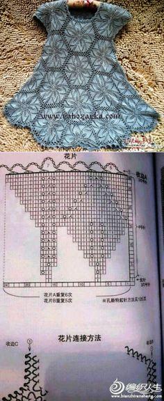 Красивая туника мотивами спицами. Схема вязания туники спицами | Я Хозяйка