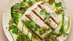 Grilled Halibut and Summer Squash Recipe | Bon Appetit