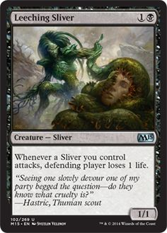 Leeching Sliver - Will definitely change the dynamic of my sliver deck #mtg