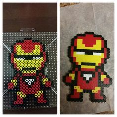 Iron Man perler beads by briannamatias