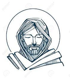 Resultado de imagem para jesus cristo desenho rosto