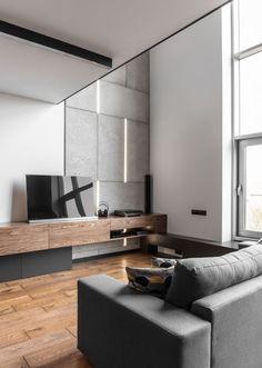 Stilvolle Einrichtung Boyfriend Style Maenner Wohnzimmer Holz Beton