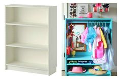 IKEA Billy Bookcase Hack: DIY Dress Up Closet