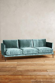 Slub Velvet Linde Sofa - anthropologie.com