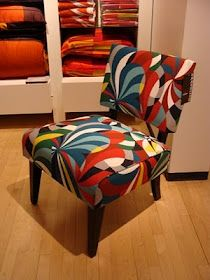 Marimekko. Marimekko FabricUpholstery ... & I adore this Pansy fabric upholstered on this little French chair ...