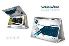Cliente ColdLine. Mockup calendário.