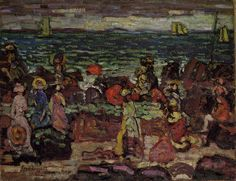 A Dark Day by Maurice Prendergast Post Impressionism Art, Impressionist Artists, Art Database, Oil Painting Reproductions, Poster Prints, Art Prints, Great Artists, Fine Art, Dark