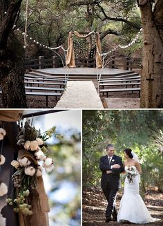 Real Wedding: Kristin + Brandon's Woodsy Organic Wedding never thought of a cute little amphitheatre for an outdoor wedding! Wedding Ceremony Ideas, Wedding Venues, Outdoor Ceremony, Wedding Reception, Theater Wedding, Wedding Vows, Reception Ideas, Wedding Locations, Wedding Bells
