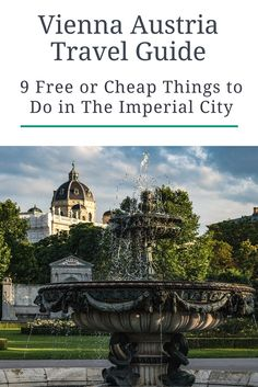 Vienna, Austria's capital, can be a pretty expensive destination to visit. We recently spent three days there and didn't break the bank. Click here to see our list of free and cheap things to do in The Imperial City. PLUS where to stay in Austria on a budget.