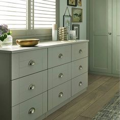 Henley grey chest of drawers with Satin Nickel Cup handles Fitted Bedroom Furniture, Fitted Bedrooms, Modern Country Bedrooms, Grey Chest Of Drawers, Bedroom Inspiration, Satin, Home Decor, Decoration Home, Grey Dresser