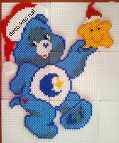 Christmas Care bear hama perler beads by deco.kdo.nat