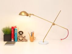 Opulux Dome Table Lamp, Modern Table Lamp made with Brass and Marble. Task Lamp, Desk Lamp, Mid century Modern, Brass Lamp. ON SALE. by GaganDesign on Etsy https://www.etsy.com/listing/236834756/opulux-dome-table-lamp-modern-table-lamp