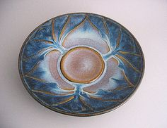 Handmade pottery small lotus bowl -Campbell Studios