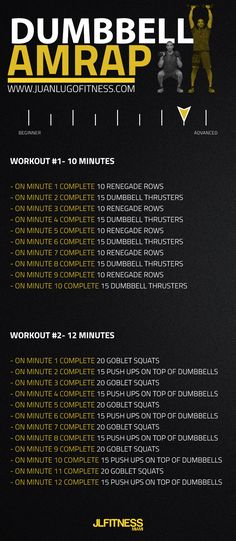 If you are looking for a pair of tough workouts to do, then you have to come to the right place. These are simple but significant. Just you and a pair of #dumbbells. #workouts #conditioning #amrap