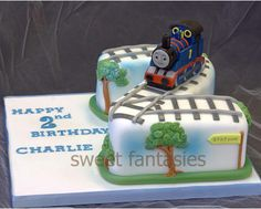 Thomas the Tank Engine Cake-not thomas but like the idea of it