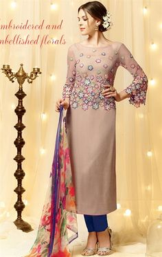 Luscious Dusty Pink Designer Salwar Kameez