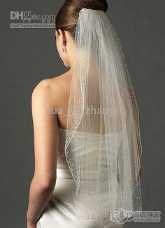 Wholesale Bridal Veil - Buy - 2013 Elegant One Layer Tulle Short Veils White Ivory Wedding Veil Waist Length Bridal Veil ZJ229, $27.19 | DHg...